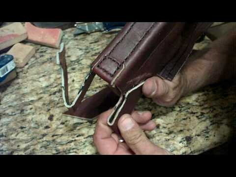 How To Make A Homemade. Hand Stitched. Custom Leather Glock Holster. Part 3