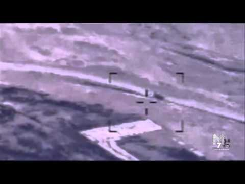 US Airstrike On ISIS Armored Personnel Carrier near Mosul, Iraq