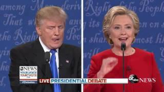 Presidential Debate Highlights   Trump, Clinton Defend Tax Plans