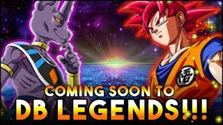 BEERUS & SUPER SAIYAN GOD GOKU ARE THE NEXT UNITS TO COME TO Dragon Ball Legends