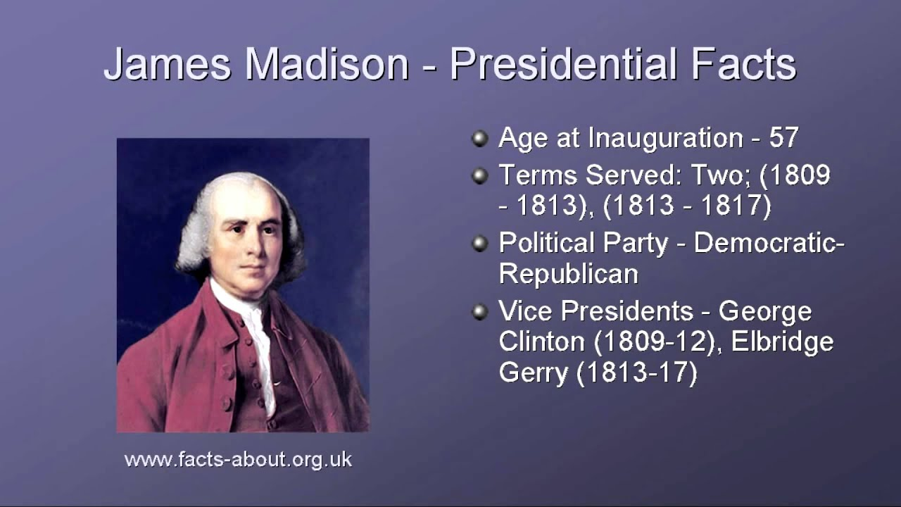 President James Madison Biography - YouTube