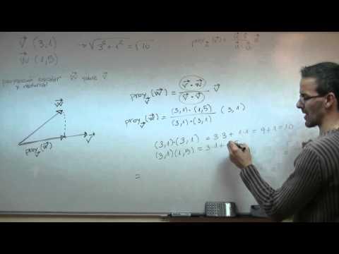 Proyeccion ortogonal de un vector  4ºESO unicoos vectores matematicas