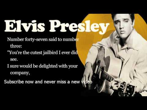 Elvis Presley -- Jailhouse Rock -- Lyrics (official) video