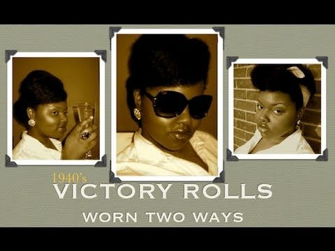 Retro/Pin-Up Style Contest Entry - Victory Rolls Updo