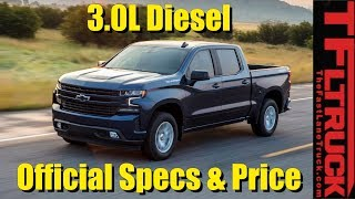 BREAKING NEWS: OFFICIAL 2019 Chevy Silverado 3.0L Diesel Price & Specs Revealed! Does It Beat Ford?