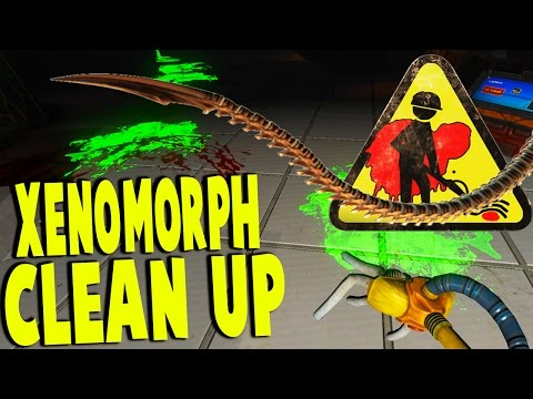 Viscera Cleanup - CLEANING UP AFTER XENO OUTBREAK, DEMON ATTACK - Gameplay