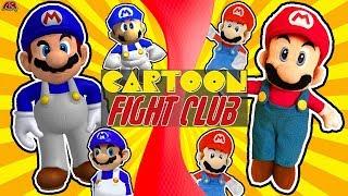 SMG4 vs SML MARIO (SMG4 vs SuperMarioLogan | War Of The Fat Italians v SML Movie) Cartoon Fight Club