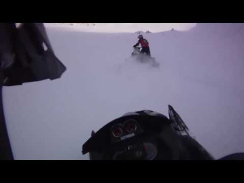 Ski Doo Renegade X 1200 XR Turbo Test Ride On Hill in Greenland