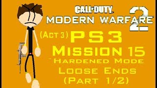 Call Of Duty MW2 (PS3) Mission 15 - Loose Ends (Hardened Mode) (Act 3) (1/2)