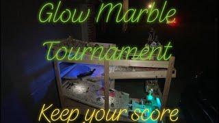 GLOW IN THE DARK 5 Run Marble Race Tournament