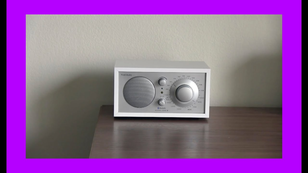 reviewed tivoli model one bluetooth radio youtube. Black Bedroom Furniture Sets. Home Design Ideas
