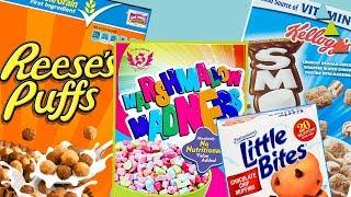 Los cereales MÁS RAROS de Estados Unidos