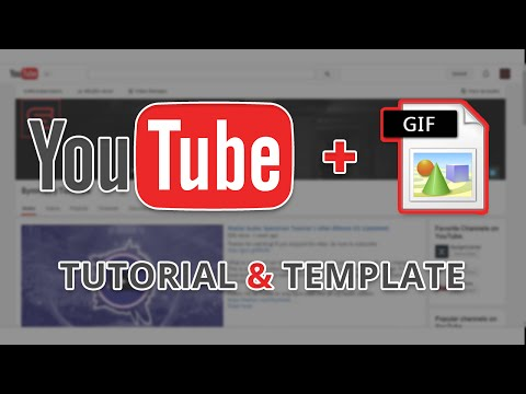 YouTube banner Update 2014 (GIF) Tutorial + Template