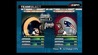 ESPN NFL 2K19 PS2 LIVE STREAM SUPER BOWL RAMS VS PATS