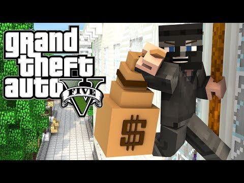 Minecraft GTA V | Grand Theft Auto 5 Mod Ep 4!