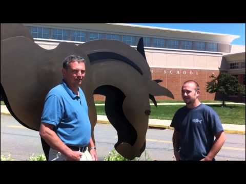 Metal mule put in place at Solanco High School