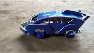 Sáng tạo top 10, xe ô tô điều khiển tự chế làm bằng giấy