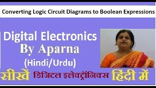 Converting Logic Circuit Diagrams to Boolean Expressions in Digital Electronics (Hindi/Urdu)