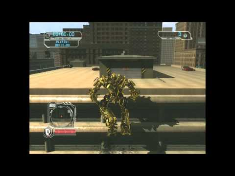 Transformers Revenge of the Fallen Free Roam Gameplay with Golden Optimus Prime