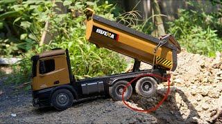 Chiếc xe tải trở đất vượt lầy cực hay -  xe tải tự chế điều khiển từ xa