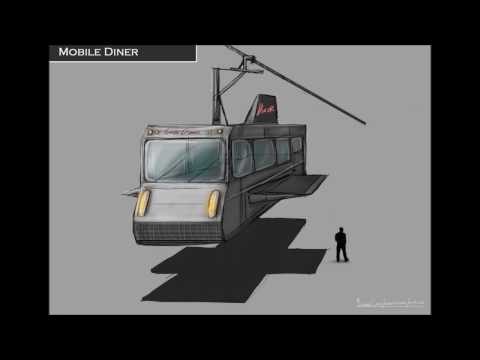Michael Clarke, Concept art Time Lapse: Mobile Diner