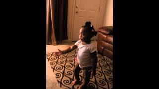 TOO FUNNY!!! One year old baby arguing