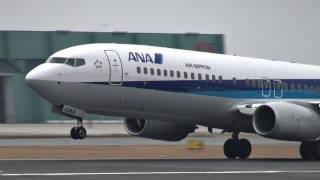 熊本空港 Air Nippon (ANK/ANA) Boeing 737-800 JA63AN 離陸 2011.3.12