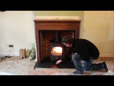 Clearview Pioneer 400 wood burning stove. fireplace and chimney relining