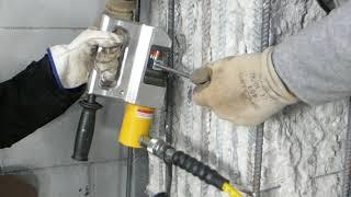 Tecnaria coupler GTS for rebar - installation