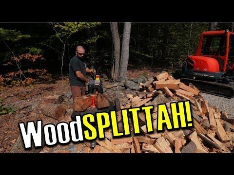 DR RapidFire Kinetic Log Splitter VS. Hardwood Logs - Pros & Cons Vlog