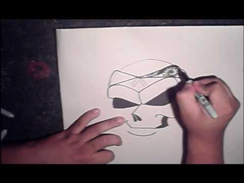 Drawing a Skull with spraycans Video