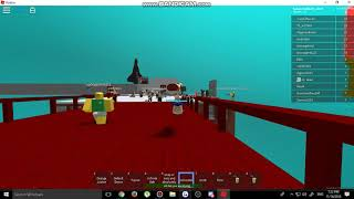 Playing  a roblox funny game