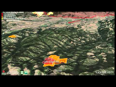 Carlton Complex Wildfire Fly Through Updated 8-03-2014