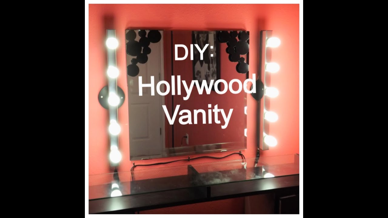 diy saturday hollywood vanity youtube. Black Bedroom Furniture Sets. Home Design Ideas