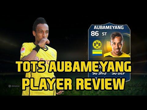 FIFA 15 Ultimate Team TOTS Pierre-Emerick Aubameyang 86 Player Review FUT 15 TOTS Aubameyang Review