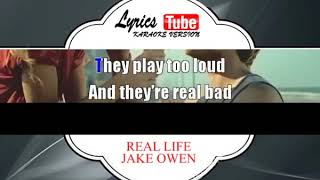 Karaoke Music JAKE OWEN - REAL LIFE | Official Karaoke Musik Video