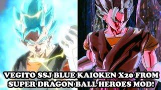 HE'S BACK! VEGITO SSJ BLUE KAIOKEN X20 (SUPER DRAGON BALL HEROES ANIME) MOD! Dragon Ball Xenoverse 2