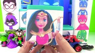Opening PJ Masks Teen Titans DC Superhero Girls Toy Boxes