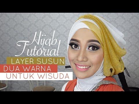Tutorial Hijab Pesta atau Wisuda | Style Hijab Layer 2 Warna | # 1 Style tutorial hijab praktis dan mudah untuk dipraktekkan ke orang lain menggunakan bahan hijab Glitti (Style tutorial hijab praktis dan mudah untuk dipraktekkan ke orang lain menggunakan bahan hijab Glitti (GlitterTipis by...