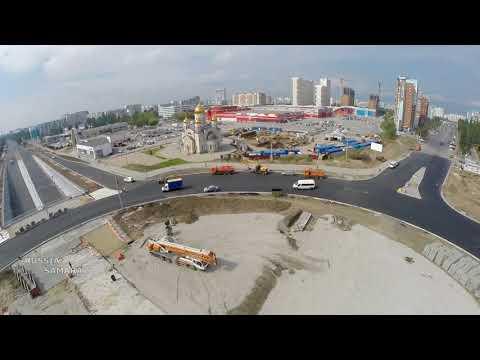 Открылось круговое движение на пересечении Московского ш. / пр. Кирова #Samara