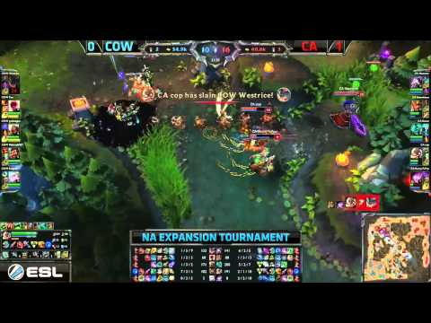 Cow (goldenglue Zed) Vs Ca (keane Hecarim) Game 2 Highlights - 2015 Na Lcs Exp Tournament video