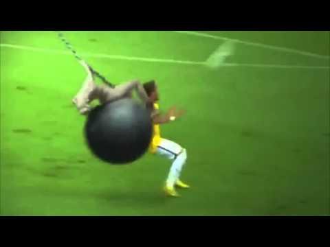 Lesion de Neymar  (parodia) Mundial Brasil 2014 Brazil vs Colombia