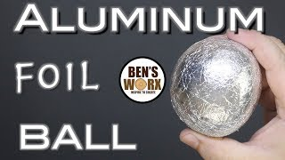Making a foil ball - Aluminum polishing