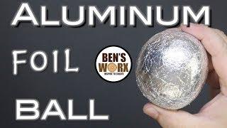 Making a foil ball - Aluminum polishing