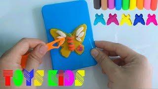 Learn Colors PlayDoh by Making Butterfly & Shape - Best Fun For Kids