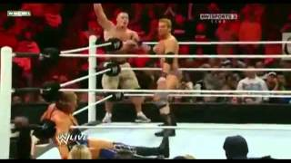 Zack Ryder, Big Show  John Cena vs. Mark Henry and Jack Swagger Kane [Raw 1_2_12] Part 2