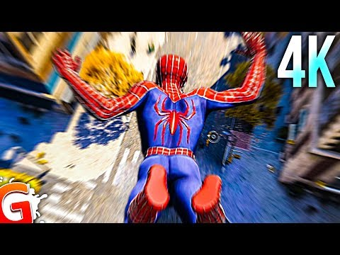 [4K] Spider-Man PS4 RAIMI SUIT With MOVIE MUSIC! (PS4 Pro Gameplay)