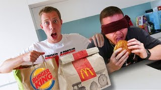 BLINDFOLD FAST FOOD CHALLENGE WITH BEHZINGA