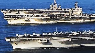Rare THREE-CARRIER STRIKE GROUP! An UNPRECEDENTED SHOW of US Naval Force!