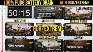 8 MOBILES HDR/EXTREME PUBG TEST#REDMI NOTE 7 PRO#REALME#ONE PLUS#SAMSUNG#ASUS